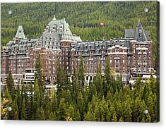 Banff Hotel 1684 Acrylic Print by Larry Roberson