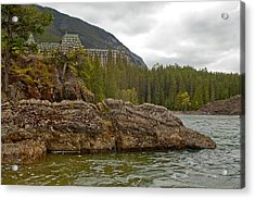 Banff Hotel 1762 Acrylic Print by Larry Roberson