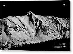 Banff National Park Monochrome Acrylic Print by Terry Elniski