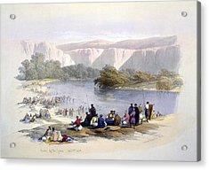 Banks Of The Jordan, 1839, Lithograph Acrylic Print by Everett