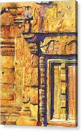 Banteay Srei Doorway Acrylic Print by Ryan Fox