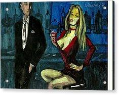 Bar Fly 7  3d   Acrylic Print by Harry  Weisburd