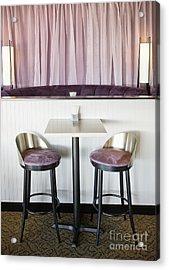 Bar Table And Chairs Acrylic Print