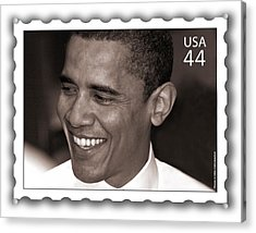 Barack Obama Portrait. Photographer Ellis Christopher Acrylic Print by Ellis Christopher