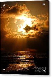 Barbadose Sunrise Acrylic Print by Lenroy Johnson