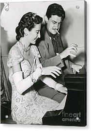 Barbara Stanwyck & Preston Sturges Acrylic Print by Photo Researchers