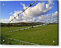 Barbed Wire Cloud Acrylic Print by Lee Rees