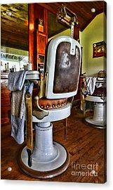 Barber - Barber Chair Acrylic Print by Paul Ward