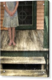 Barefoot Girl On Front Porch Acrylic Print