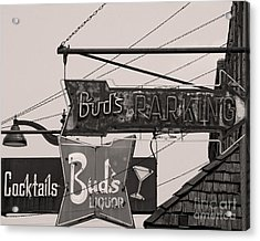 Acrylic Print featuring the photograph Barhopping At Buds 1 by Lee Craig