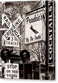 Acrylic Print featuring the photograph Barhopping At Frankies 1 by Lee Craig