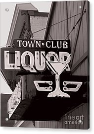 Acrylic Print featuring the photograph Barhopping At The Town Club 1 by Lee Craig