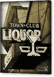 Acrylic Print featuring the photograph Barhopping At The Town Club 2 by Lee Craig
