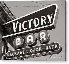 Acrylic Print featuring the photograph Barhopping At The Victory 1 by Lee Craig