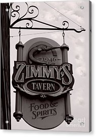 Acrylic Print featuring the photograph Barhopping At Zimmys 1 by Lee Craig