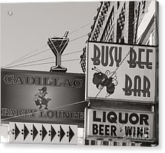 Acrylic Print featuring the photograph Barhopping Cadillac Style 1 by Lee Craig