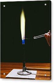 Barium Flame Test Acrylic Print by Andrew Lambert Photography