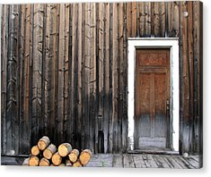 Barkerville Back Porch Acrylic Print by Calvin Wray