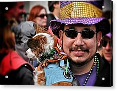 Acrylic Print featuring the photograph Barkus Mardi Gras Parade by Jim Albritton