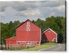 Barn Along The Way Acrylic Print