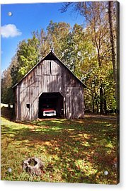 Acrylic Print featuring the photograph Barn An Chevy by Janice Spivey