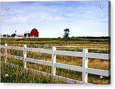 Barn And Fence Acrylic Print by Cheryl Cencich