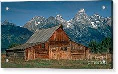 Barn And Tetons Acrylic Print by Jerry Fornarotto