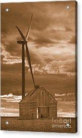 Barn And Windmill 2 Acrylic Print by Jim Wright