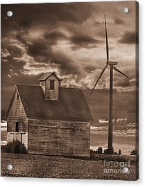 Barn And Windmill Acrylic Print by Jim Wright