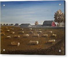 Acrylic Print featuring the painting Barn by Angela Stout