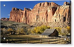 Acrylic Print featuring the photograph Barn At Capital Reef by Geraldine Alexander
