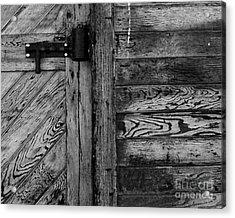 Barn Door Acrylic Print by Chuck Flewelling