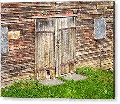 Barn Door Acrylic Print by Kathryn Barry