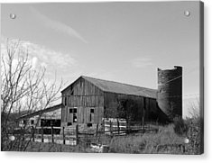 Barn In Black And White Acrylic Print by Brittany Roth