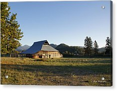 Barn In The Applegate Acrylic Print by Mick Anderson