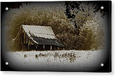 Barn In The Field Acrylic Print by Travis Truelove