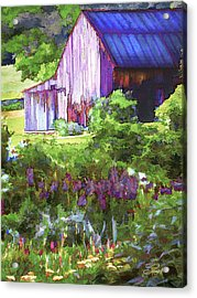 Barn In The Hollow Acrylic Print by Suni Roveto