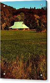 Barn In The Style Of The 60s Acrylic Print by Mick Anderson