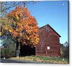 Barn Of Cornelius A Quackenbush Acrylic Print by Donald Gaudiomnte