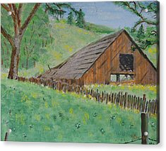 Barn On Hiway 20 Acrylic Print by Mick Anderson