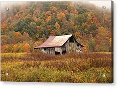 Barn On Locust Road Acrylic Print