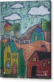 Barn Scene Acrylic Print by Karla Gerard