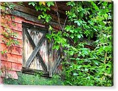 Barn Window Acrylic Print by Bill Cannon
