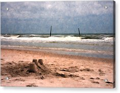 Barnacle Bill's And The Sandcastle Acrylic Print