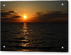 Acrylic Print featuring the photograph Barnegat Bay Sunset by Brian Hughes