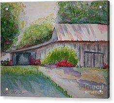 Barns Last Days Acrylic Print by Terri Maddin-Miller