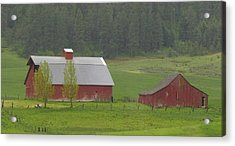 Barns Of The Palouse 5 Acrylic Print by Tony and Kristi Middleton