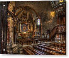 Baroque Church In Savoire France 2 Acrylic Print