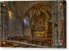 Baroque Church In Savoire France 3 Acrylic Print