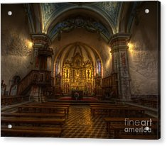 Baroque Church In Savoire France Acrylic Print